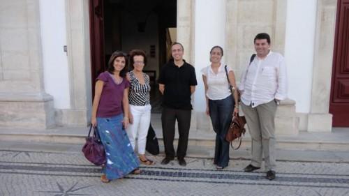 Fundação da MIDAS, Coimbra, 2011. Da esq. para a dir.: Alice Semedo, Raquel Henriques da Silva, Pedro Casaleiro, Ana Carvalho e Paulo Simões Rodrigues